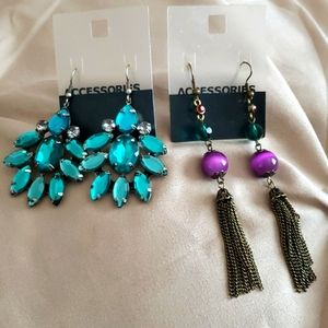 H&M Boho Earring Bundle in Blues and Purples